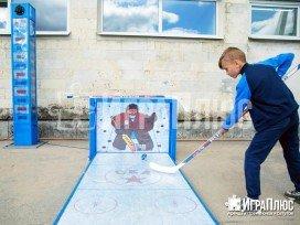 силомер, силомер хоккей, хоккейный аттракцион, аренда аттракционов играплюс