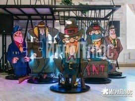 лазерный тир, ковбойская вечеринка, играплюс, аренда аттракционов