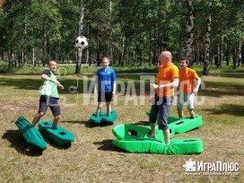 футбол в лыжах, футбольный аттракцион, футбольная забава, футбольный аттракцион, аренда аттракционов, играплюс